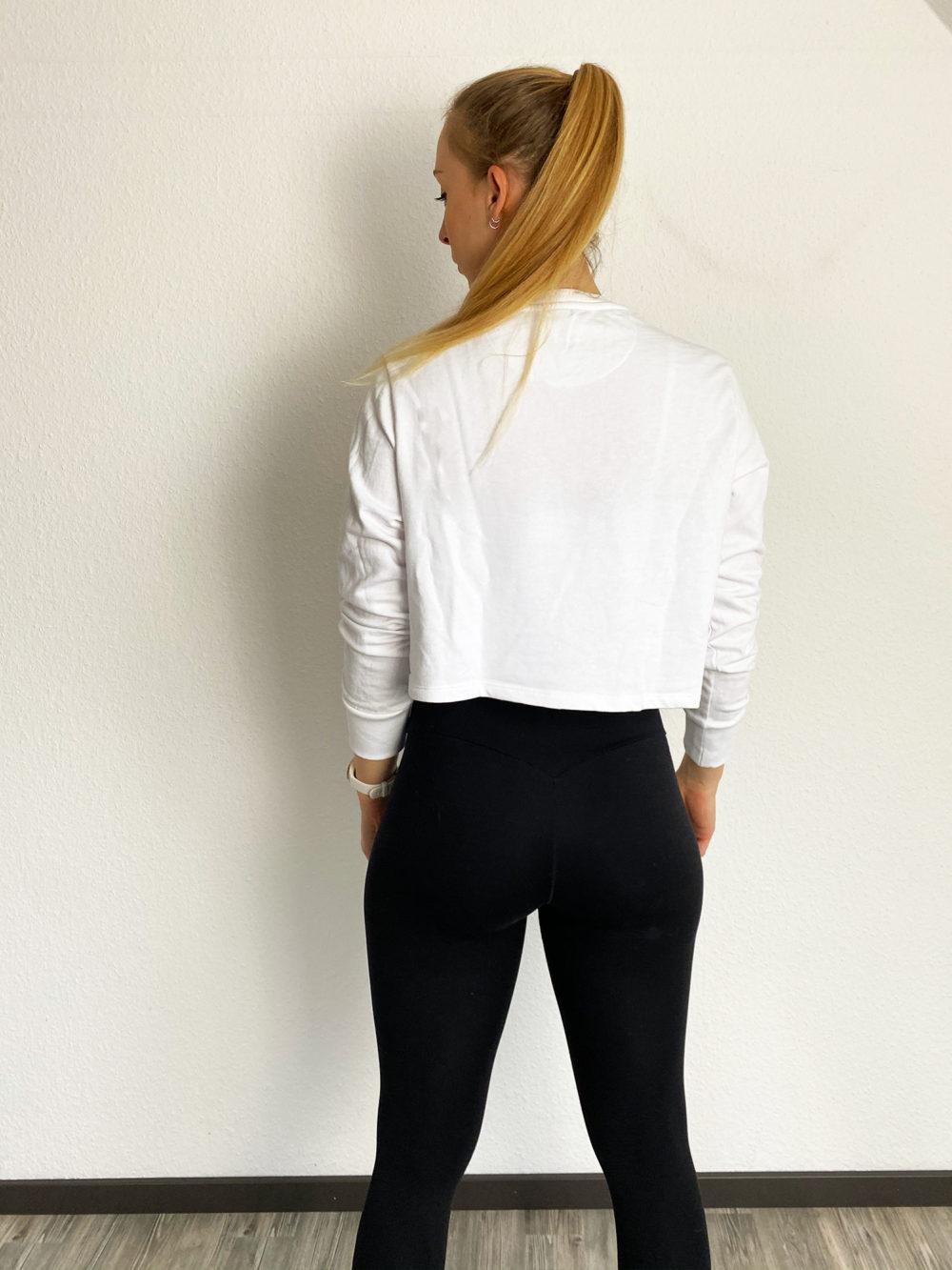 cropped sweater weiß