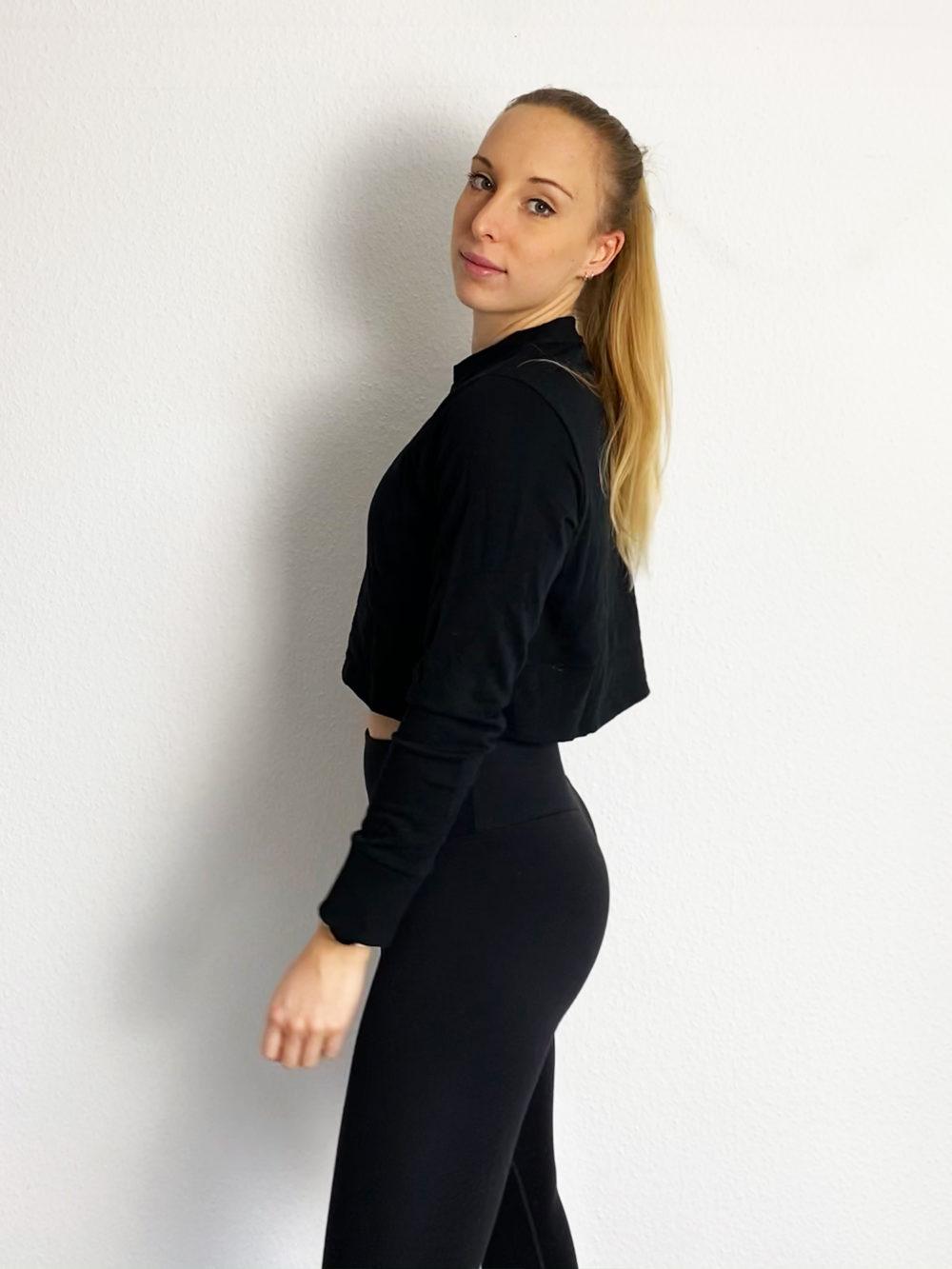 cropped sweater schwarz