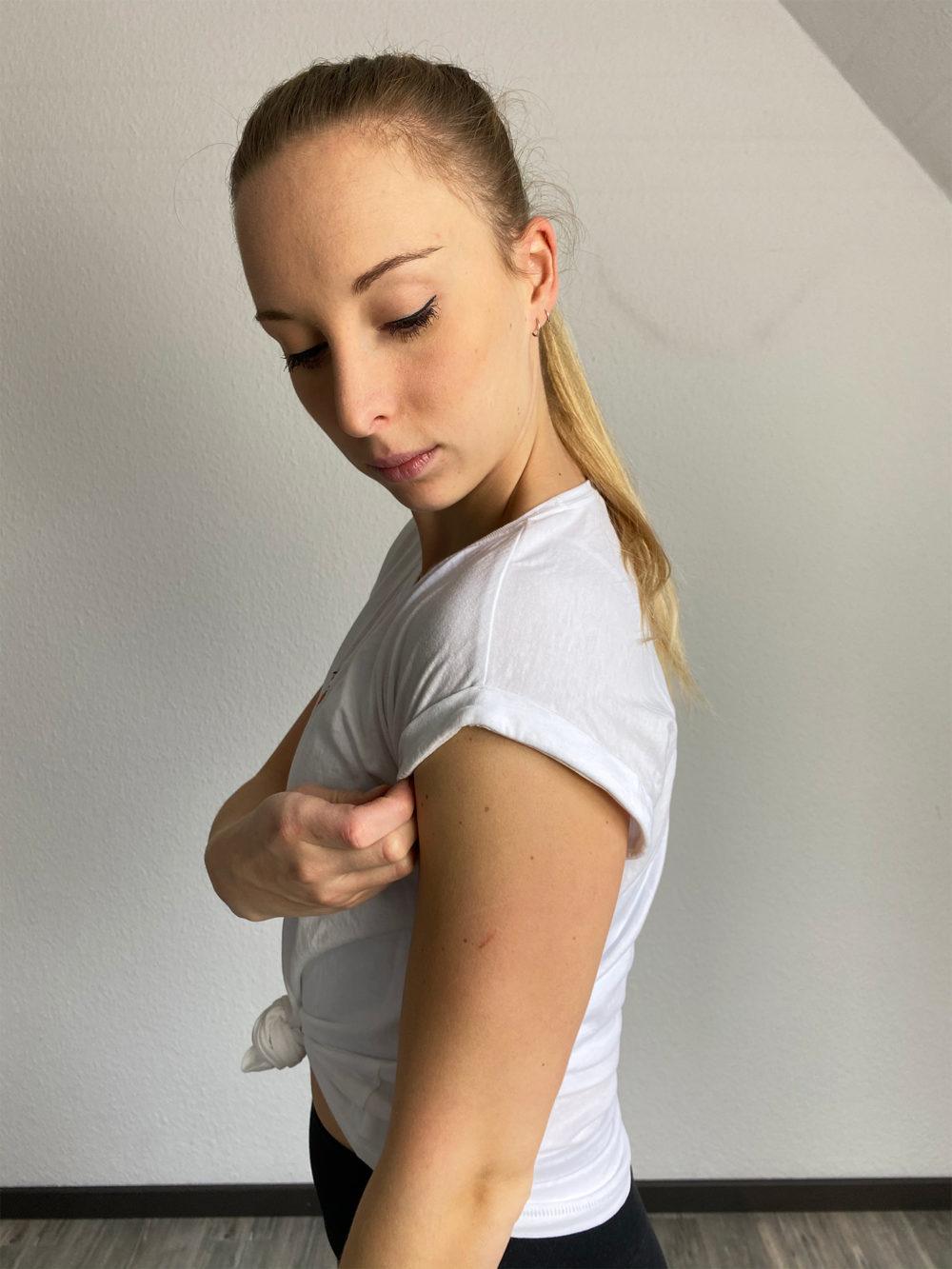 modern t-shirt weiß
