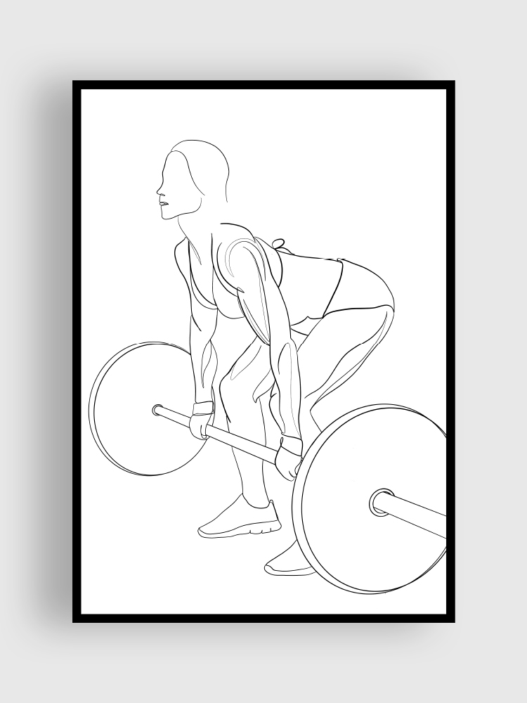 one line poster deadlift