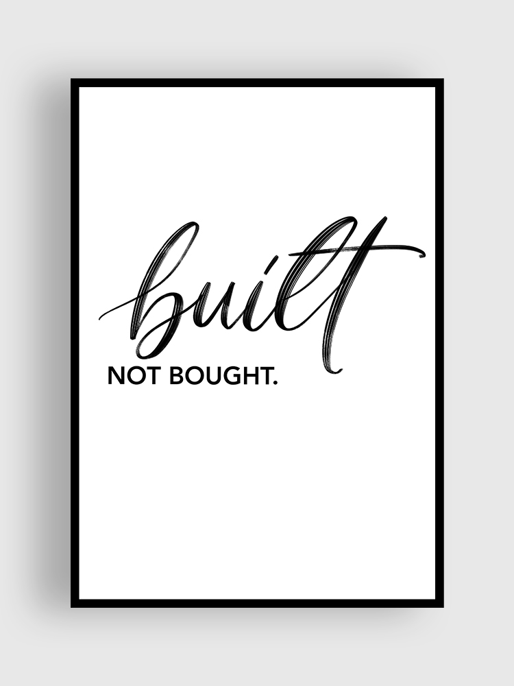 lettering Poster built not bought