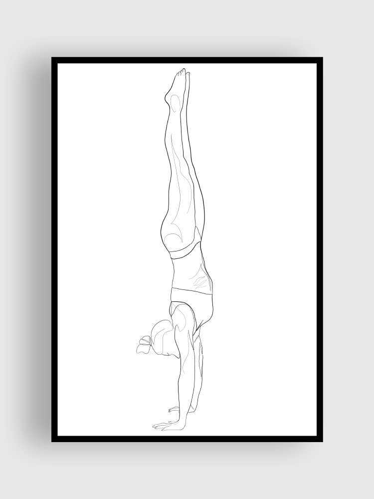 one line Poster handstand
