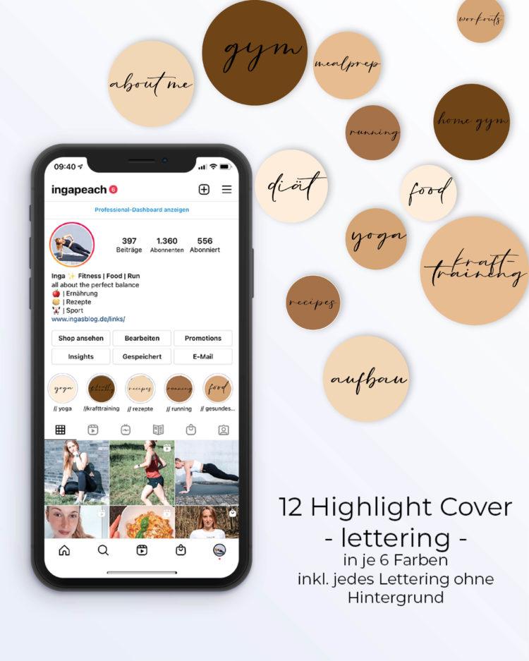 Instagram Highlight Cover braun