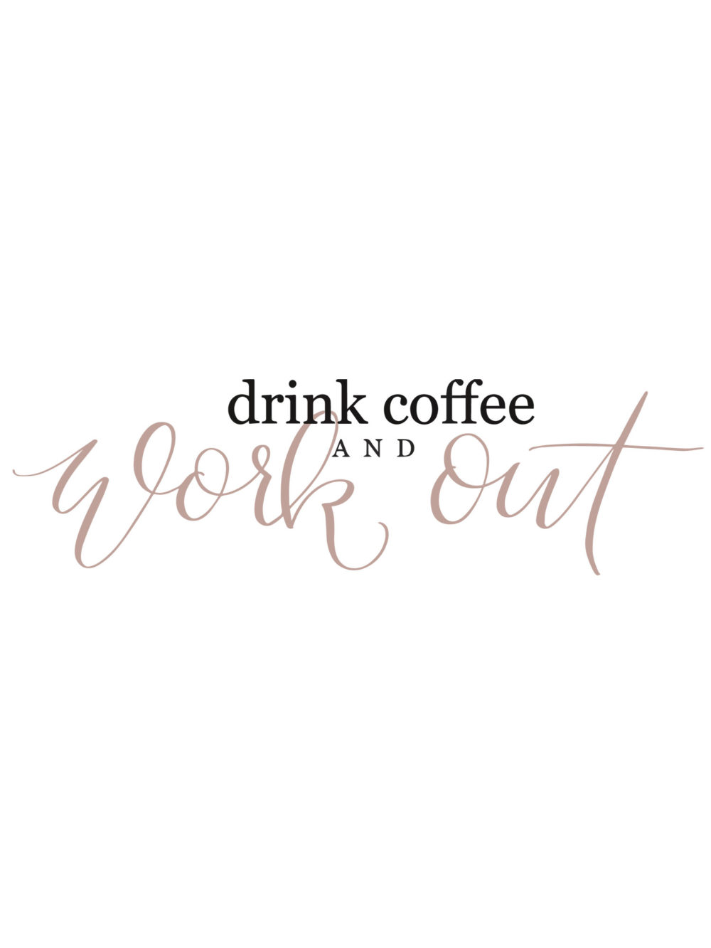 drink coffee and workout logo