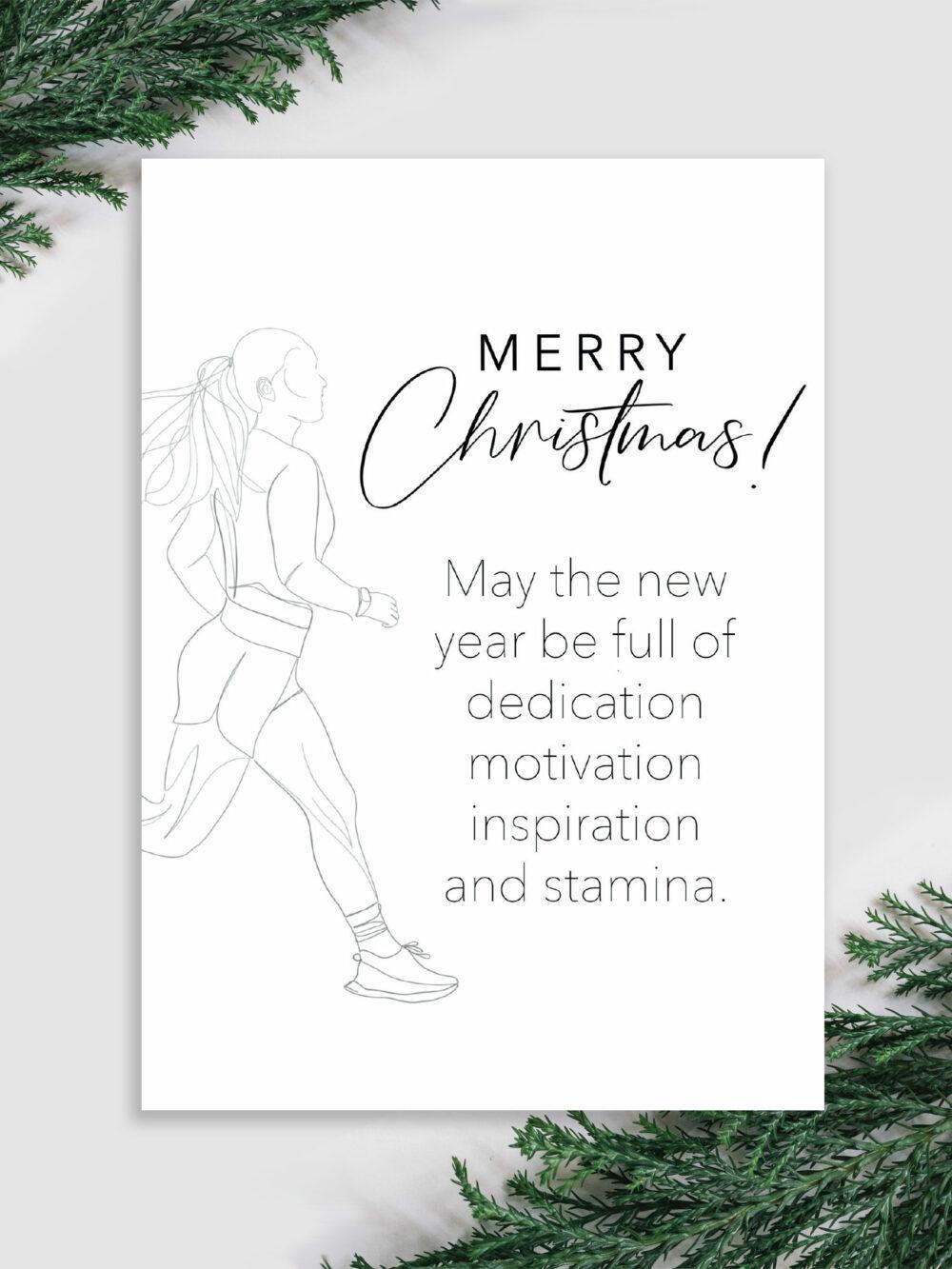 Fitness Weihnachtskarte