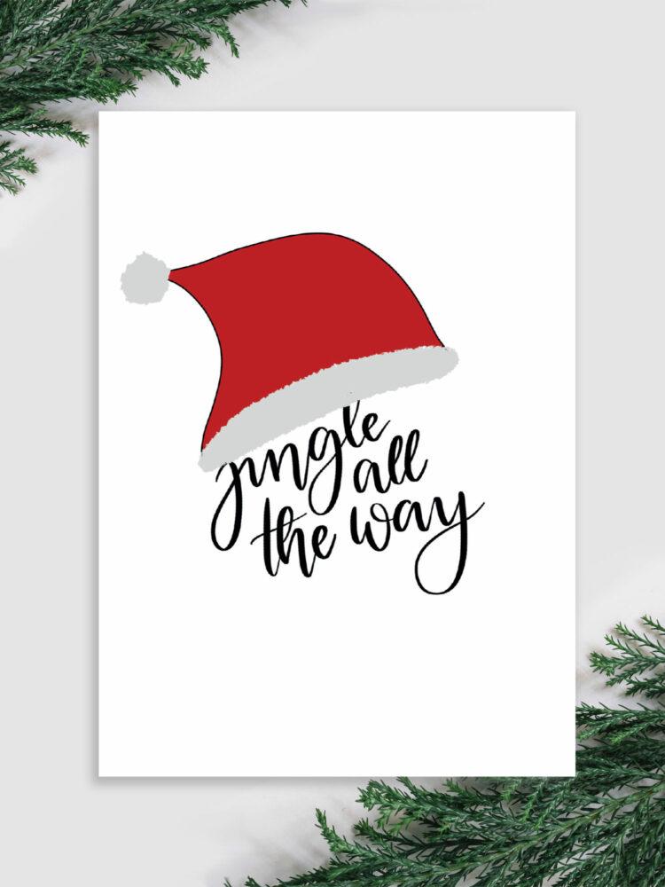 weihnachtskarte jingle all the way