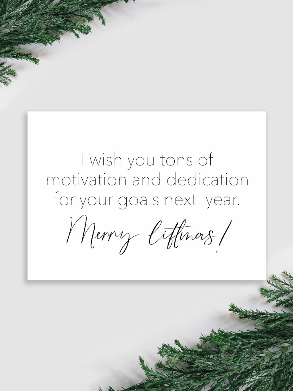 Weihnachtskarte Sportler Tons of motivation